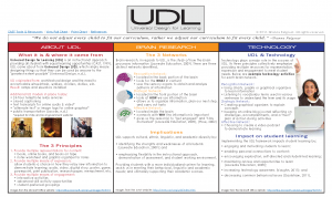UDL Interactive Chart